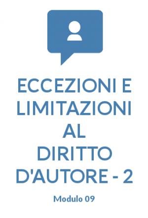 Eccezioni e limitazioni parte 2 modulo 09